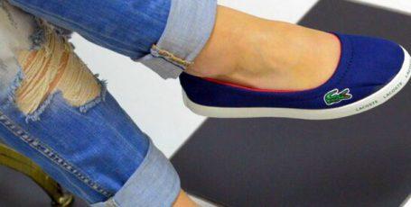 С чем носить балетки бренда Lacoste